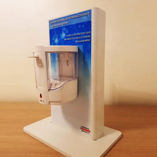 Distributeur de gel & solution hydroalcoolique  de comptoir